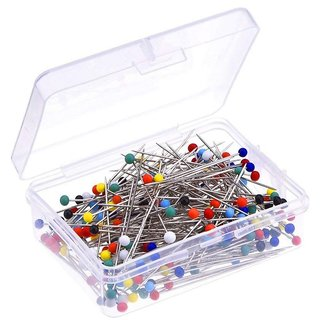 DIY Crafts Sewing Pins 38mm Glass Ball Head Pins for Dressmaking with Transparent Cases, Multicolors(pack of 1200)