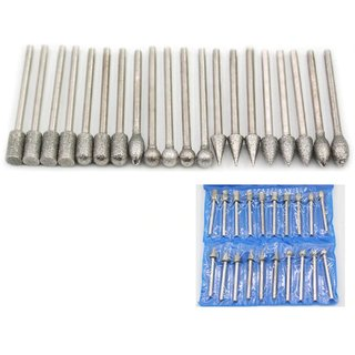 DIY Crafts 20 pcs 1/8 inch Shank Diamond Grinding Burr Drill Bits Sets for  Dremel Rotary Jewelry Making Tools