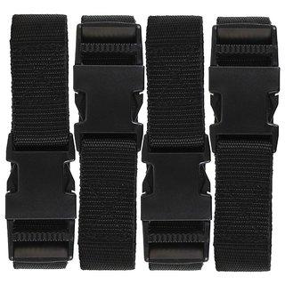 DIY Crafts Luggage Straps Suitcase Lock Belt Strap Black Luggage Straps Rainbow Color Adjustable Suitcase Belts For Traveling Business Trip (Pack Of 3 Pcs, Black)