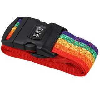 391fe36b4 DIY Crafts Luggage Straps Suitcase Lock Belt Strap Heavy Duty Luggage Straps  Rainbow Color Adjustable Suitcase Belts For Traveling Business Trip (Pack  Of 8 ...