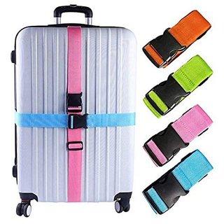 DIY Crafts Color Luggage Straps Suitcase Lock Belt Strap Luggage Straps Rainbow Color Adjustable Suitcase Belts For Traveling Business Trip (Pack Of 5 Pc, Multi - Color) (Pack Of 4 Pcs, Multi - Color)