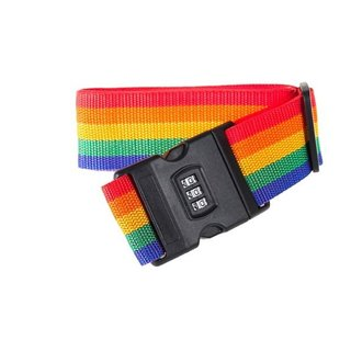 DIY Crafts Luggage Straps Suitcase Lock Belt Strap Heavy Duty Luggage Straps Rainbow Color Adjustable Suitcase Belts For Traveling Business Trip