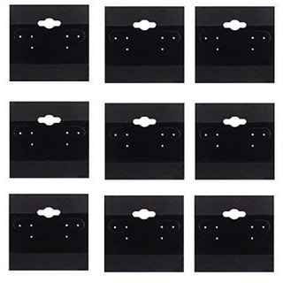 DIY Crafts Black Velvet Plastic Display Cards for Earrings (2 x 2 inches) (Pack of 200 cards)