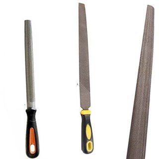 DIY Crafts 1x Yellow Black Handle Steel Middle Cut Half Round File Hand Tool 81
