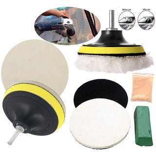 DIY Crafts 30 Grm Cerium Oxide with Polishing Paste Drill Buffing Felt Pads