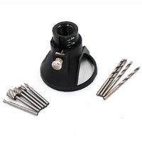 DIY Crafts Rotary Multi Tool Cutting Guide Attachment Kit with HSS Router Drill Bits Set