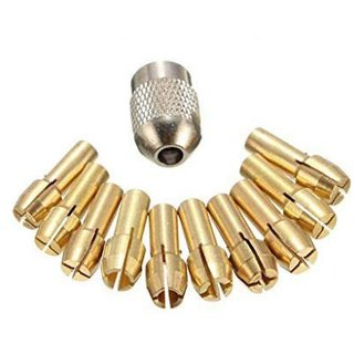 DIY Crafts 10 - Pcs Brass Drill Chuck Collet Bits 0 5-3 2Mm 4 3Mm Shank for Rotary Machie 4.3mm, 0.17'' Clamping Diameter0.5mm, 0.8mm, 1.0mm, 1.2mm, 1.5mm, 1.8mm, 2.0mm, 2.4mm, 3.0mm, 3.2mm