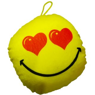 StarOne Collections Soft Smiley Cushion- 12 Cm (Yellow)