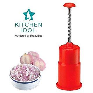 Kitchen Idol Push N Chop Onion Chopper - Red