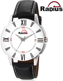 Radius Attractive Chronograph Pattern and Leather Strap stylish Watch For Men's R-3033