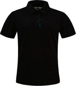 Kothari Women half sleeves Polo Black color Tshirt