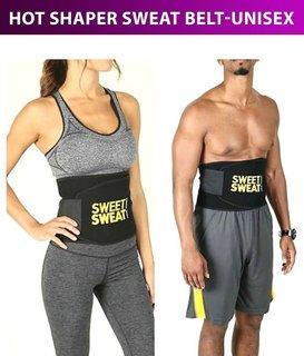 52b0e547a6 Unisex Sweat Slim Belt Waist Trimmer Belly Fat Burner Tummy Wrap Body Slim  look Exercise Belt
