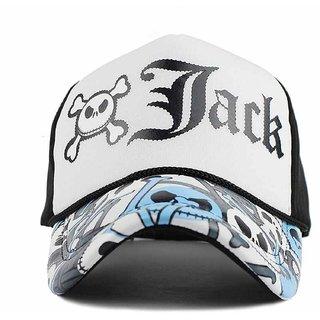 6841d4fa6ce Buy DELHITRADERSS Boy s and Girl s Printed Half Net Fabric Baseball Front  Side Mens Cap(Jack-Black) Online - Get 67% Off