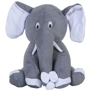 G.S Baby Cute Elephant Plush Soft Toy for Kids Gray ( 20-inch)
