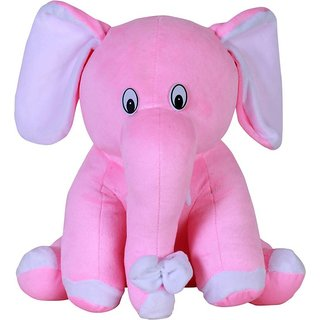 G.S Baby Cute Elephant Plush Soft Toy for Kids Pink