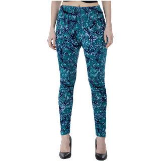 IndiWeaves Women Velvet Printed Leggings Pack of 1