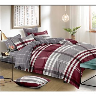 SHRI BALAJI TEXTILES 3D PRINT KING SIZE BED SHEET WITH TWO PILLOW COVERS