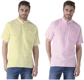Khadio Men's Multicolor Short Kurtas