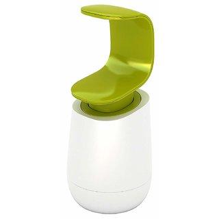 smart matto Soap Dispenser 8 Oz Liquid Wash Bottle White Green Shampoo Container