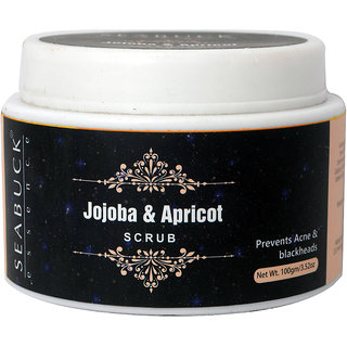 SEABUCK ESSENCE Jojoba and Apricot  Face Scrub - Dead Skin Remover  Revitalises Skin Health (100 gm)