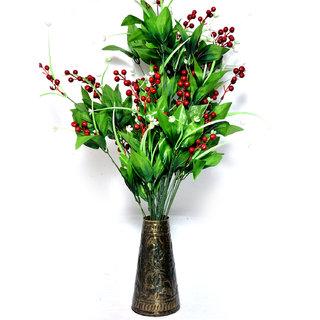 Decorative Handmade Beautiful Hand Paint Iron Glass Flower Vase Home Decor