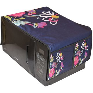 Manvi Creations Dital Printed Microwave Oven Top Cover with 4 Pockets (15X36inch),Multi.