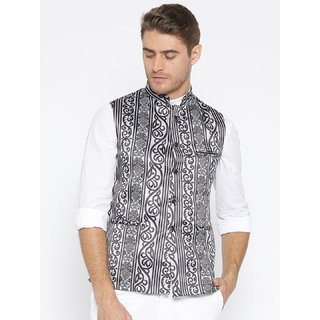 Routeen Printed Nehru Jackets for Men