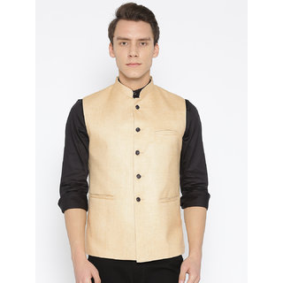 Routeen Solid Nehru Jackets for Men