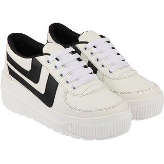 Do Bhai Women's White Casual shoe