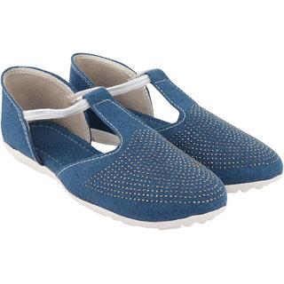 Do Bhai Women Blue Casual Sandal