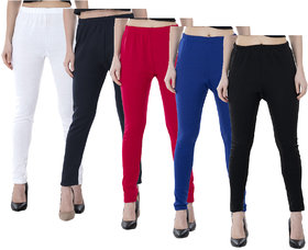 IndiWeaves Women Warm Wollen Lycra Legging (Pack of 5)