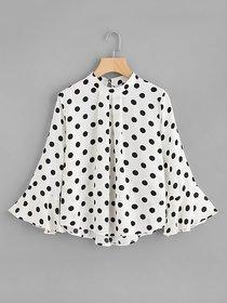Rimsha women's wear white polka top for women