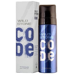 Wild Stone Code Titanium Perfume Body Spray for Men 120ML