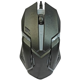 Oxza Changing Led Light Wired Optical Gaming Mouse   USB 2.0, Black