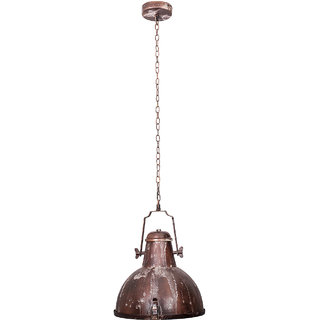 Fos Lighting Nautical Rustic Brown Industrial Pendant Light