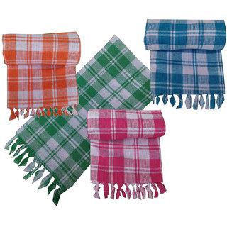 4 Full Size Cotton Bath Towel (Assorted Color)