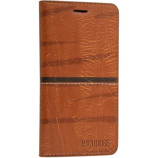 cheap for discount 4e2f9 5b9a8 Oppo A83 Golden Flip Cover Standard Quality