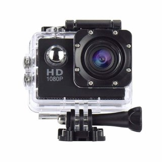 Tecbasket Ultra HD 1080P Sports Action Camera with Rechargeable Batteries