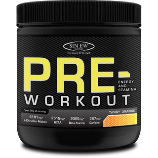 Sinew Nutrition Pre-workout - Tangy Orange ( 350 gm )