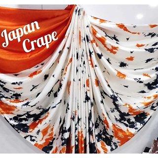 Fab Brand Shibori Printed Japan Crepe Silk Sarees