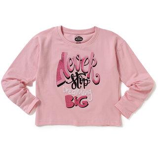 Cub McPaws Girls Pink Graphic Print Cotton T Shirt