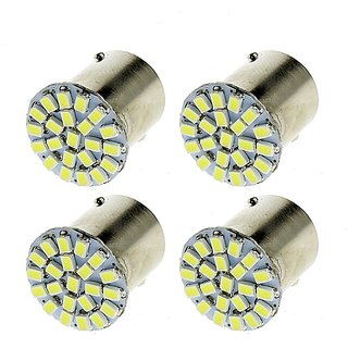22 SMD (WHITE ) Led Indicator Bulb/Turn Signal Bulb Universal B-32 (Pack of 4) Universal for All Bikes