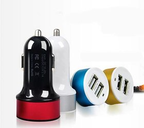 YezBay 2 Port USB Car Charger (Assorted Colour)