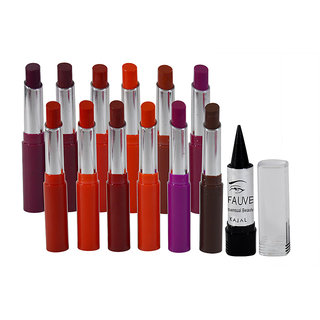 ADS Crystal Moisturising Lipstick Pack of 6 And Free Kajal-A