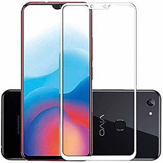 Vivo Y81 White 5D Tempered Glass Standard Quality