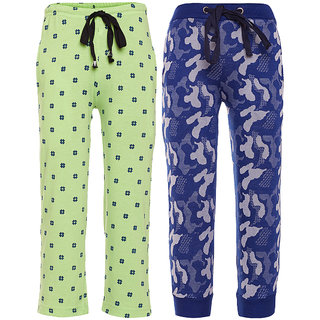 1aca6fb91f Buy Vimal Multicolor Cotton Trackpants For Boys (Pack Of 2) Online - Get 72%  Off