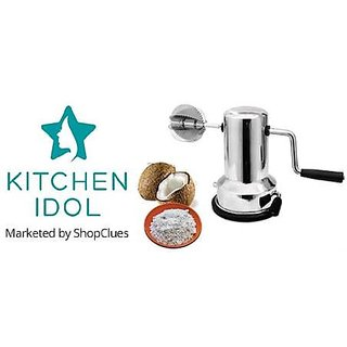 Kitchen Idol Stainless Steel Coconut Scrapper With Vacuum Base