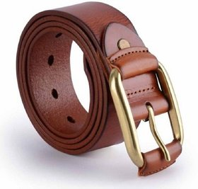Phoenix International Men Pure Leather Brown Buckcle Belt