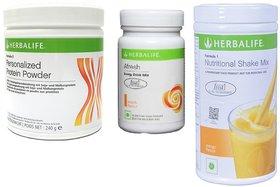 Herbal life Ultimate Weight Management Program  F1 Shake Mix Mango Flavour 500Gm,Protein Powder 200 gm  Afresh Lemon