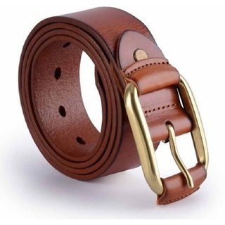 Phoenix International Men Pure Leather Brown Buckcle Belt